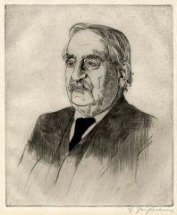 Adolf Clarenbach Zeichnung von Hermann Prüßmann, Kreisarchiv Soest